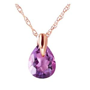 Jewelry - 14K Rose Gold Enduring Amethyst Necklace